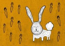 Está lloviendo zanahorias Foto de archivo libre de regalías