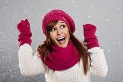 Está nevando! Imagem de Stock Royalty Free