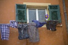 Está nevando em minha lavanderia Imagem de Stock