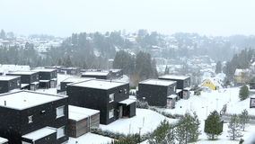 Está nevando en Oslo almacen de metraje de vídeo