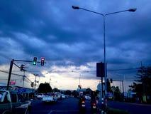 Está obtendo a chuva Fotografia de Stock