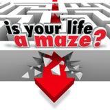 Está su vida al Maze Directionless Need Help Guidance Imagen de archivo