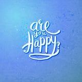 Está usted concepto feliz en Violet Background azul Foto de archivo libre de regalías