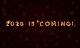 ¡2020 está viniendo! Fotos de archivo libres de regalías