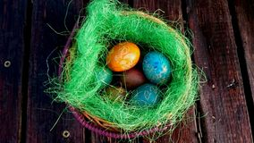 Está você pronto para o celebrationwith da Páscoa a decoração? Fotos de Stock Royalty Free