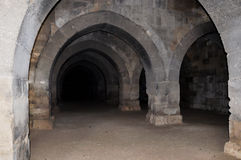 Estábulo, caravançará de Sultanhani em Akseray, Cappadocia, Turquia Foto de Stock Royalty Free