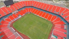 Estádio aéreo Miami 7 da vida de Sun video estoque