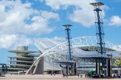 Estádio Austrália, conhecida comercialmente como o estádio de ANZ situado em Sydney Olympic Park fotos de stock royalty free