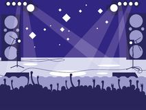 Estádio com concerto de rocha ilustração royalty free