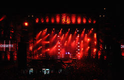 Estádio completamente com multidão Fotografia de Stock