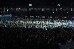 Estádio completamente com multidão Imagens de Stock