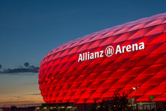 Estádio da arena de Munich Alianz Imagens de Stock Royalty Free