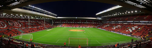 Estádio de Anfield Foto de Stock Royalty Free