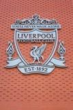 Estádio de Anfield, a terra home do clube do futebol de Liverpool no Reino Unido imagem de stock royalty free
