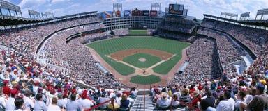 Estádio de basebol, Orioles de Baltimore das Texas Rangers v Baltimore Orioles, Dallas, Texas imagem de stock royalty free