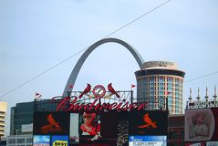 Estádio de Busch - cardeais de St Louis imagem de stock royalty free