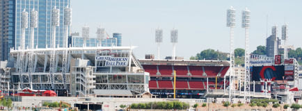 Estádio de Cincinnati Reds imagens de stock royalty free