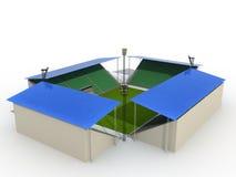 Estádio de futebol â7 Fotografia de Stock