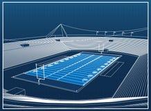 Estádio de futebol americano ilustração do vetor