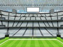 Estádio de futebol americano moderno com assentos brancos Foto de Stock Royalty Free