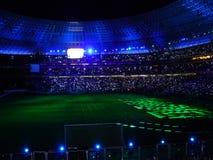 Estádio de futebol da noite Foto de Stock Royalty Free