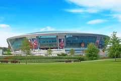 Estádio de futebol de Donbass-Arena.New. Euro-2012. Foto de Stock Royalty Free