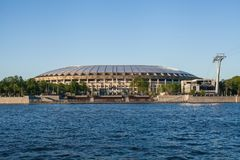 Estádio de futebol de Luzhniki foto de stock royalty free