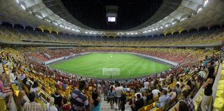 Estádio de futebol nacional da arena Fotografia de Stock Royalty Free
