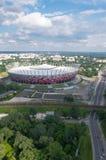 Estádio de futebol nacional em Varsóvia, Polônia Fotografia de Stock