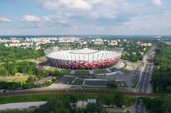 Estádio de futebol nacional em Varsóvia, Polônia Fotos de Stock Royalty Free