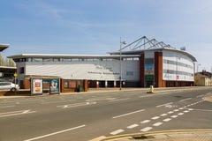 Estádio de futebol de Wrexham fotos de stock