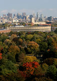 Estádio de Harvard na queda Fotografia de Stock Royalty Free