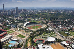 Estádio de Joanesburgo - vista aérea fotografia de stock