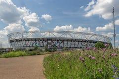 Estádio de Londres, o estádio de Ham United ocidental na rainha Elizabeth Olympic Park, imagens de stock royalty free