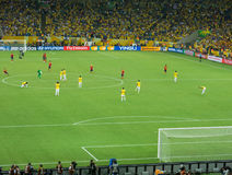 Estádio de Maracana - Brasil contra a Espanha - copo 2013 das confederações de FIFA Foto de Stock