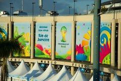 Estádio de Maracana durante o campeonato do mundo de FIFA Foto de Stock