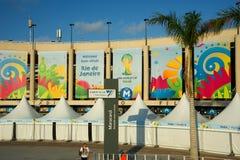 Estádio de Maracana durante o campeonato do mundo de FIFA Imagem de Stock