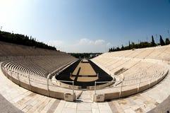 Estádio de Panathenian em Atenas, peixe-olho foto de stock