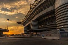 Estádio de San Siro do officet de Milão e de bilhete fotos de stock royalty free