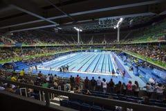 Estádio dos aquatics do jogo 2016 de Brasil - de Rio De janeiro - de Paralympic Imagens de Stock