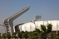 Estádio dos esportes de Lekhwiya em Doha imagens de stock royalty free