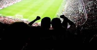 Estádio dos fãs de futebol Foto de Stock Royalty Free