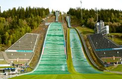 Estádio dos Jogos Olímpicos de Lillehammer em Noruega Fotografia de Stock