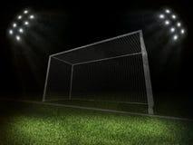 Estádio iluminado com portas cinzentas fotos de stock