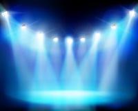 Estádio iluminado Ilustração do vetor Fotografia de Stock