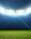Estádio iluminado por holofotes genérico fotografia de stock