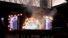 Estádio Melbourne Austrália de Etihad do concerto de ACDC Foto de Stock