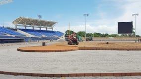 Estádio na construção Fotografia de Stock Royalty Free