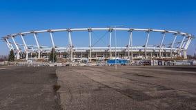 Estádio nacional Silesian sob a reconstrução Fotos de Stock Royalty Free