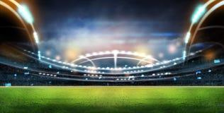 Estádio nas luzes Fotografia de Stock Royalty Free